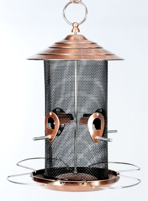 Brushed Copper Mesh Bird Feeder - Double JB Feeds
