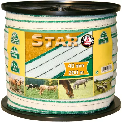 Star Electric Fence Tape - Double JB Feeds