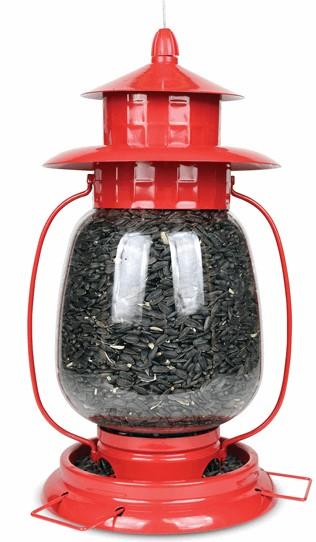 Red Lantern Bird Feeder - Double JB Feeds