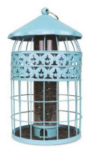 Blue Decorative Squirrel Proof Bird Feeder - Double JB Feeds