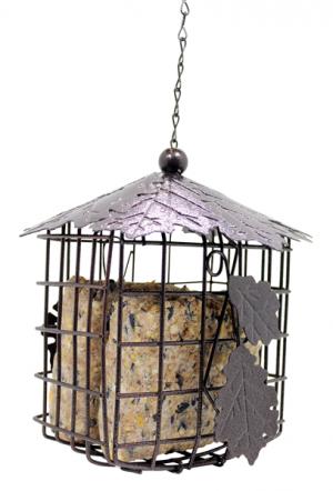 Bronze Leaf Suet Block Cage - Double JB Feeds