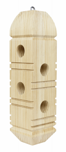 Wooden Suet Plug Feeder - Double JB Feeds